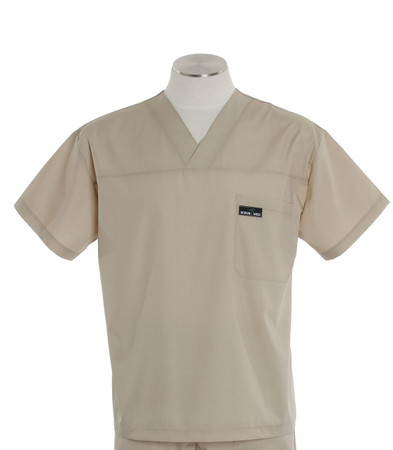 Scrub Med mens v-neck putty scrub top