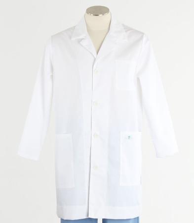 Scrub Med lapel lab coat white