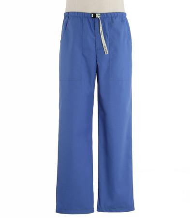 Scrub Med Mens Belted Scrub Pants bimini blue