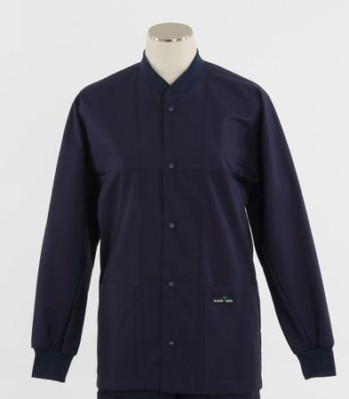 scrub med ROM navy lab jacket