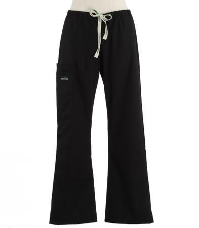 Scrub Med womens flare leg scrub pants black