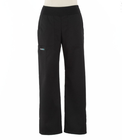 Scrub Med womens black yoga scrub pants