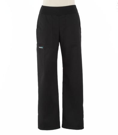 Scrub Med womens black yoga scrub pants