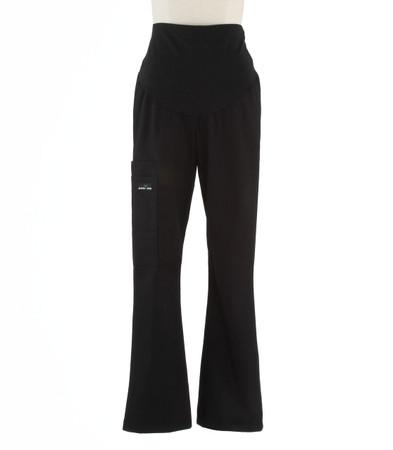 Scrub Med womens maternity scrub pants black
