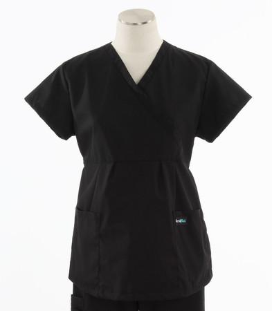 Scrub Med womens maternity scrub top black