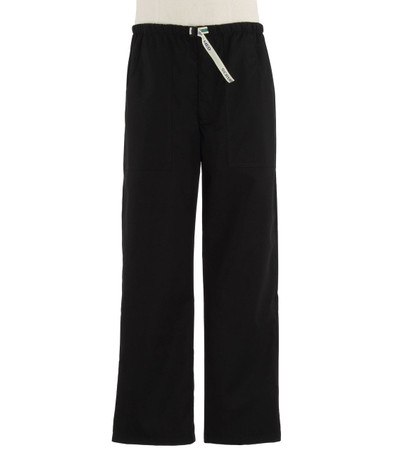 Scrub Med Mens Belted Scrub Pants Black