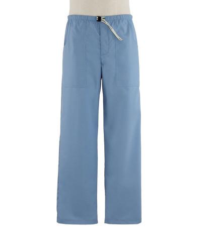 Scrub Med Mens Belted celestial blue scrub pants