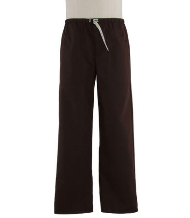 Scrub Med Mens Belted dark chocolate scrub pants