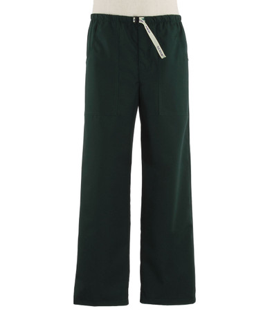 Scrub Med Mens Belted forest green scrub pants