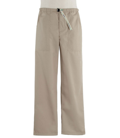 Scrub Med Mens Belted khaki scrub pants