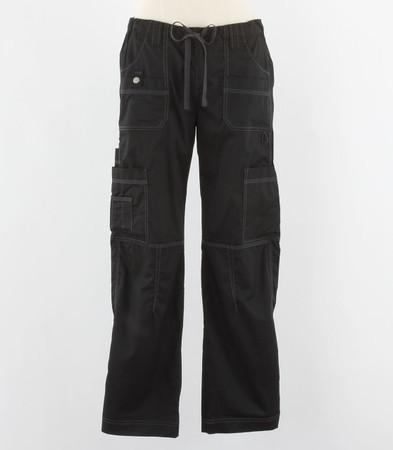 Dickies Gen Flex Womens Black Petite Cargo Scrub Pants