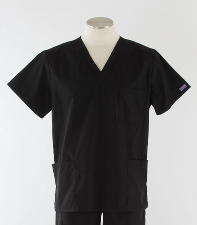Cherokee Workwear Originals Unisex Black Scrub Top
