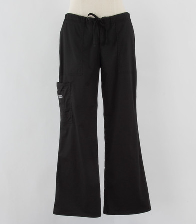 Cherokee Workwear Womens Black Cargo Scrub Pants - Petite