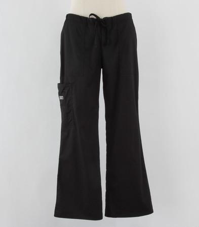 Cherokee Workwear Womens Black Cargo Scrub Pants - Tall