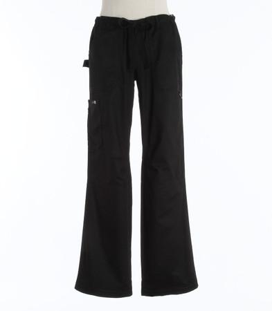 Koi Womens Black Petite Scrub Pants Lindsey Cut
