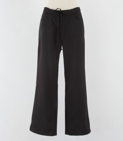 Greys Anatomy Womens Petite Black Scrub Pants