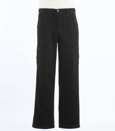 Carhartt Mens Short Black Scrub Pants with Multi Cargo Pockets