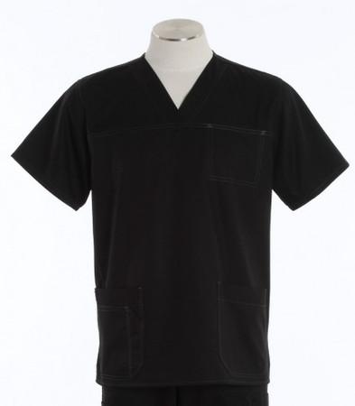 Carhartt Mens Black Scrub Top with Pockets