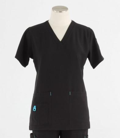 Carhartt Womens Black Cross-Flex V-Neck Scrub Top