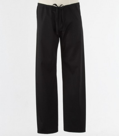 Maevn Black Unisex Seamless Drawstring Scrub Pants
