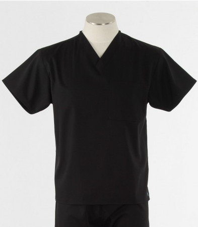 Maevn Unisex Black Scrub Top