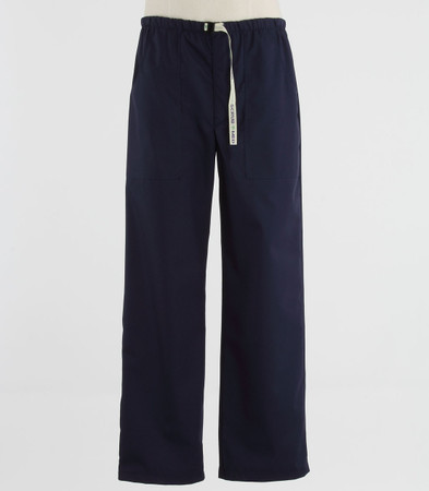 Scrub Med Mens Belted navy scrub pants