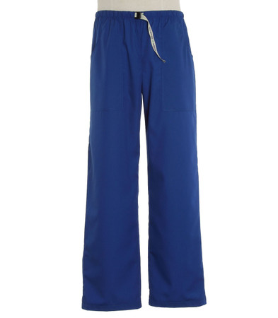 Scrub Med Mens Belted pacific blue scrub pants