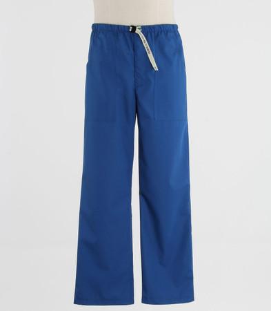 Scrub Med Mens Belted skipper blue scrub pants