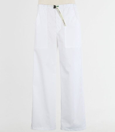 Scrub Med Mens Belted white scrub pants