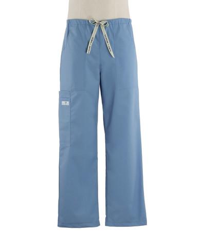 Scrub Med Mens drawstring celestial blue scrub pants