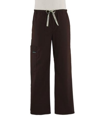 Scrub Med Mens drawstring dark chocolate scrub pants