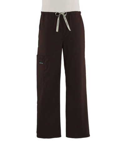 Scrub Med Mens drawstring dark chocolate scrub pants