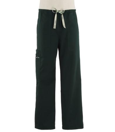 Scrub Med Mens drawstring forest green scrub pants