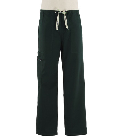 Scrub Med Mens discount drawstring forest green scrub pants