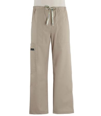 Scrub Med mens khaki drawstring scrub pants