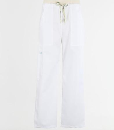 Scrub Med mens drawstring white scrub pants