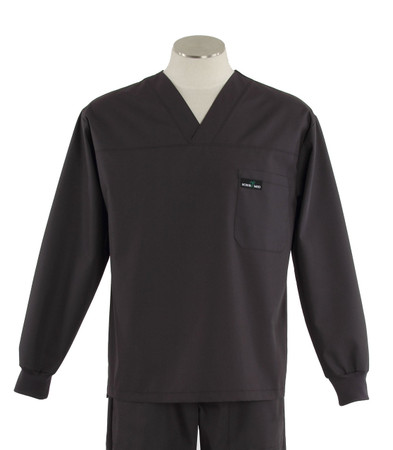 Scrub med long sleeve charcoal scrub top