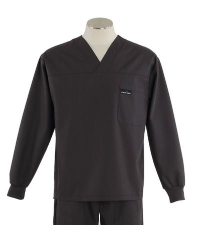 Scrub med long sleeve charcoal scrub top