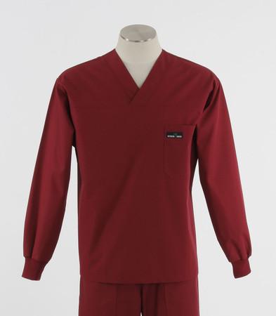 Scrub med mens discount long sleeve scrub top currant