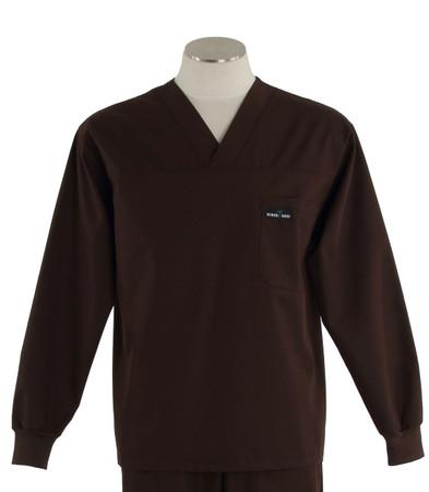 Scrub med long sleeve dark chocolate scrub top