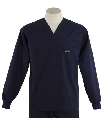 Scrub med long sleeve navy scrub top