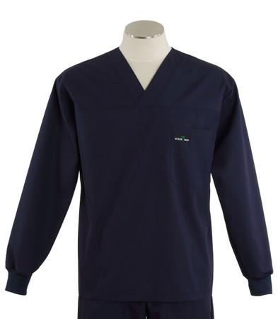 Scrub med long sleeve navy scrub top