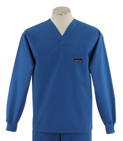 Scrub med long sleeve skipper blue scrub top