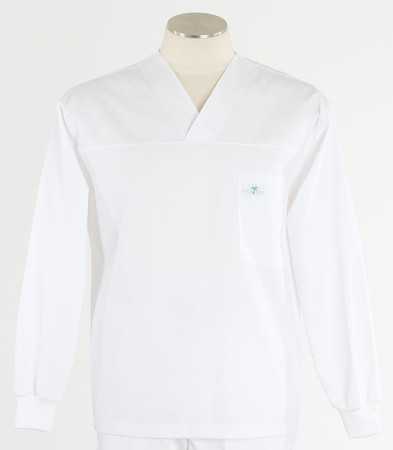Scrub med long sleeve white scrub top