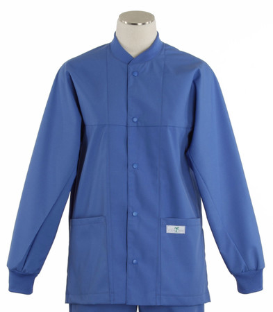 scrub med ROM bimini blue lab jacket on sale