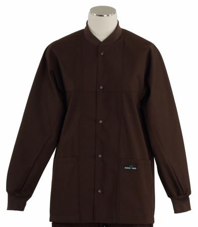 Scrub Med ROM dark chocolate lab jacket