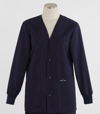 Scrub Med womens v-neck lab jacket on sale navy