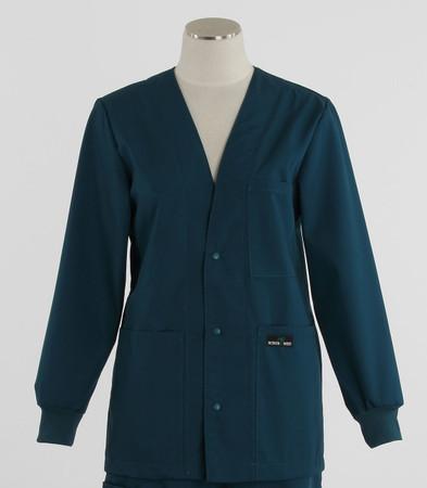Scrub Med womens v-neck lab jacket on sale spruce