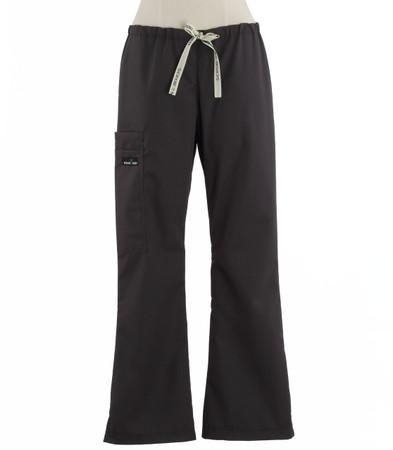 Scrub Med womens flare leg scrub pants charcoal