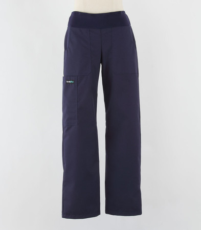 Scrub Med womens yoga scrub pants navy